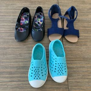 Bundle of 3 toddler girls shoes size 8
